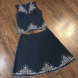 Karen Kane Top and Skirt set